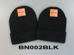 48 Bulk Beanie Hat Black Only