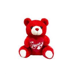 24 Bulk 9 Inch Valentine Red Plush Bear With Heart