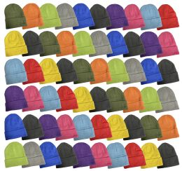 240 Bulk Yacht & Smith Unisex Stretch Colorful Winter Warm Knit Beanie Hats, Many Colors
