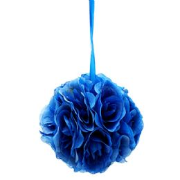 24 Bulk Eight Inch Pom Flower In Dark Blue
