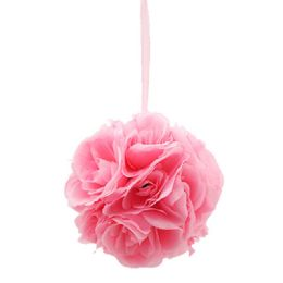 24 Bulk Eight Inch Pom Flower In Light Pink