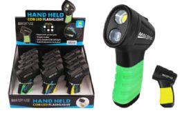 12 Bulk Palm Grip Cob Led Flashlight