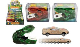 24 Bulk Dinosaur Car Launcher With Car