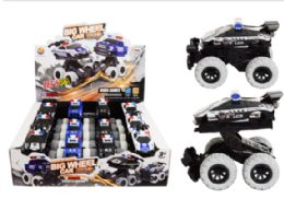 24 Bulk Police Crash Car Friction Powered