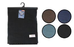24 Bulk Fleece Scarf Solid Color