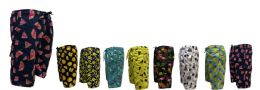 48 Bulk Men's Printed Swim Shorts Waterproof With Lining