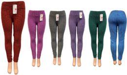 12 Bulk Bright Color Leggings Assorted