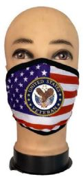 24 Bulk Flag Style Face Mask United States Veteran