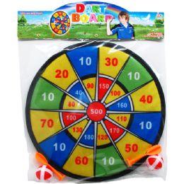 """48 Bulk 11"""" DART BOARD WITH 4PC VELCRO DART BALL"""