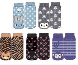 24 Bulk Kids Polar Extrreme Thermal Sock Footie Critter Design