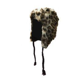 72 Bulk Fleece Lined Faux Fur Trapper Hat With Tassels