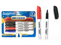 144 Bulk 4 Piece Dry Erase Markers 3 Assorted Color