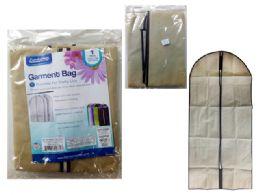 72 Bulk Garment Bag With Window Beige