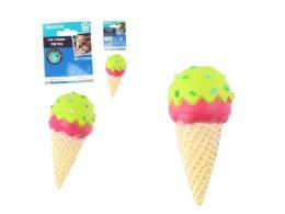 48 Bulk Squeaky Pet Toy Ice Cream Cone
