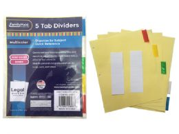 144 Bulk Tab Index Dividers 5 Pieces