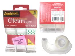 96 Bulk 3 Piece Clear Tape