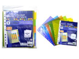 144 Bulk 5 Piece Pocket Tab Dividers