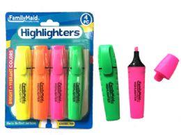 144 Bulk Highlighters 4 Piece Set