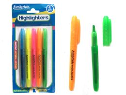 144 Bulk Highlighters 5 Piece Assorted Color