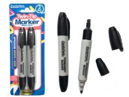 144 Bulk Permanent Marker 2 Piece Black Color