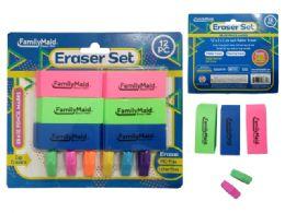 48 Bulk 12 Erasers 6 Caps And 6 Blocks