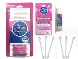 72 Bulk Cotton Swabs 450 Piece Plastic