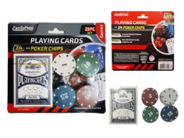 48 Bulk Playing Card And 24 Poker Chips