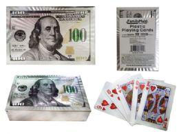 100 Bulk Playing Card Plastic White Gold