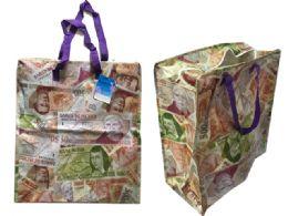 96 Bulk Mexican Peso Shopping Bag With Zipper