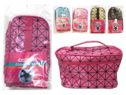 144 Bulk Cosmetic Bag With Zipper And Handle
