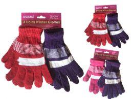 144 Bulk Gloves 2 Pair Assorted