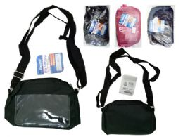 72 Bulk Crossbody Bag With Pocket And Gold Zipper