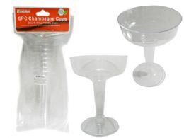 48 Bulk 6 Piece Plastic Champagne Glasses