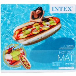 "6 Bulk 71""x35"" Hotdog Mat In Color Box, Dsgn For Adults"