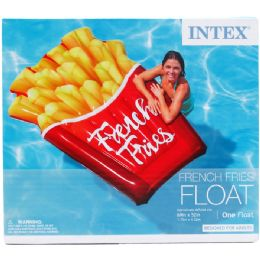 """6 Bulk 69""""x52"""" French Fries Float In Color Box, Dsgn For Adults"""