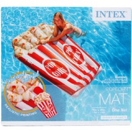 """4 Bulk 70""""x49"""" Popcorn Mat In Color Box, Dsgn For Adults"""