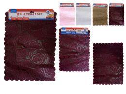 144 Bulk 2 Piece Placemats Assorted Color