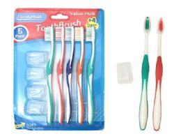 72 Bulk Toothbrushes 5 Piece Set