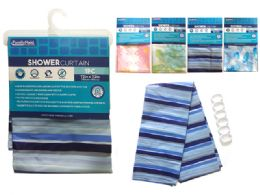 24 Bulk Shower Curtain With 3 Magnets
