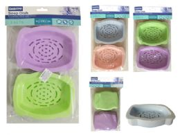 96 Bulk 2 Piece Soap Dish Holder