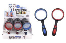 15 Bulk Mini Magnifying Glass (2.5x) (rubber Coated)