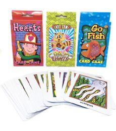 144 Bulk Assorted Card Games 13.5x9.5cm