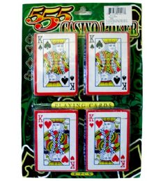 72 Bulk 4pk Playing Cards 10x7 in