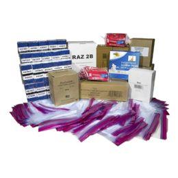 100 Bulk Men's Toiletry Kit for Kit Packing Event, 11 Piece Pack