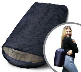 Bulk Camping Lightweight Sleeping Bag 3 Season Warm & Cool Weather Navy