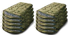 10 Bulk Camping Lightweight Sleeping Bag 3 Season Warm & Cool Weather Olive Green