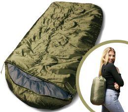 Bulk Camping Lightweight Sleeping Bag 3 Season Warm & Cool Weather Olive Green