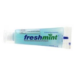 288 Bulk Freshmint 1 oz. Premium Clear Gel Anticavity Fluoride Toothpaste (ADA Approved)