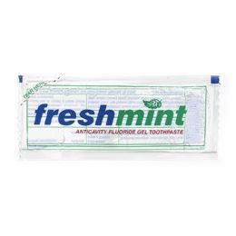 1000 Bulk Freshmint 0.28 Oz. Single Use Clear Gel Anticavity Fluoride Toothpaste Packet
