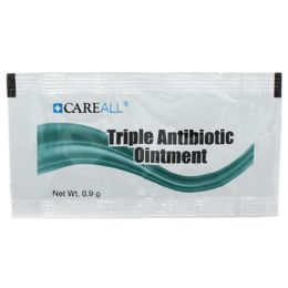 1728 Bulk Careall 0.9g Triple Antibiotic Ointment Packet